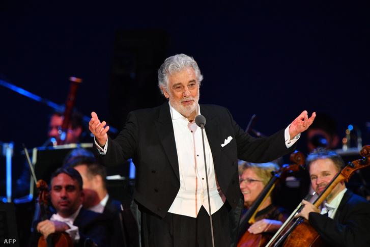 Placido Domingo szegedi fellépésén, augusztus 28-án.