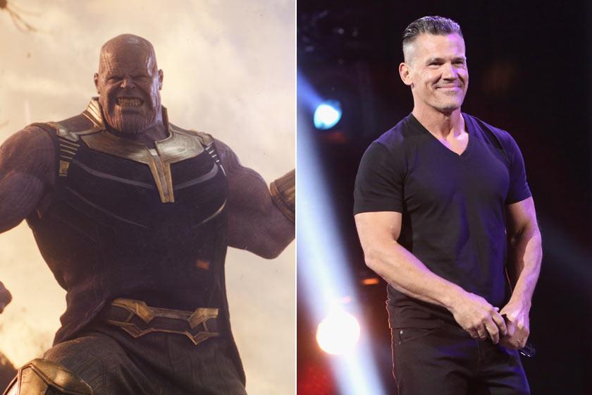 Thanos megformálója, Josh Brolin igazán sármos - ráadásul erőtől duzzadó izmait sem CGI-jal alkották meg.