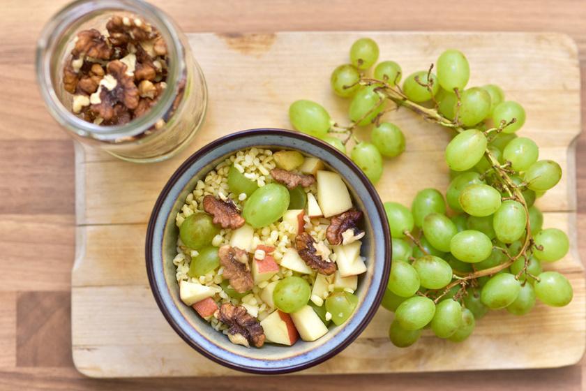 Isteni köret rizs és tészta helyett: szőlős-almás bulgur