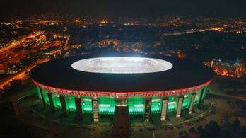 Nemzeti színekben pompázott az új Puskás stadion