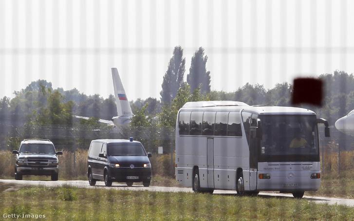A fogolycserére a Boriszpili nemzetközi repülőtéren került sor