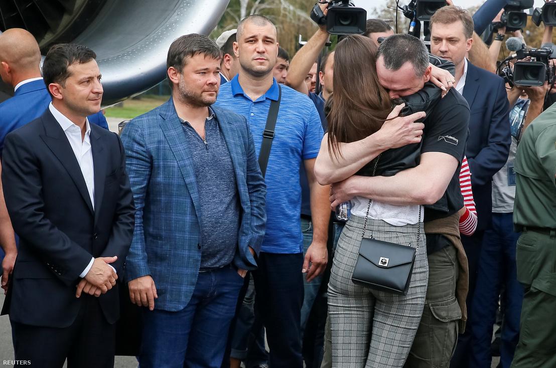 Szencov és lánya a fogolycsere után