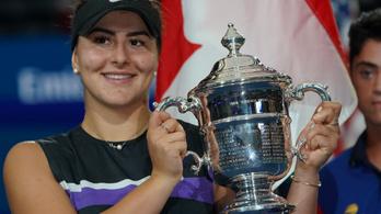 A 19 éves kanadai Andreescu legyőzte Serena Williamset a US Open-döntőben