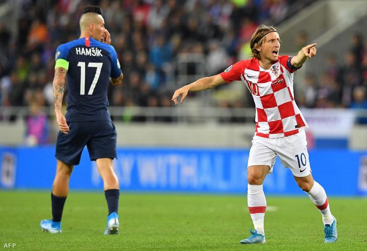 Hamsik és Luka Modric a szlovák-horvát 0-4-en