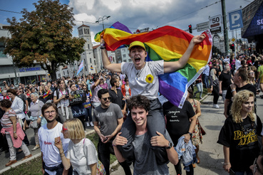 A tüntetőkhöz a térség és Európa államaiból is csatlakoztak támogatók