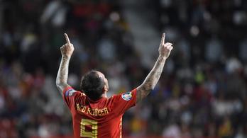 Nem lassít a spanyol bombázó: 7 meccs, 9 gól