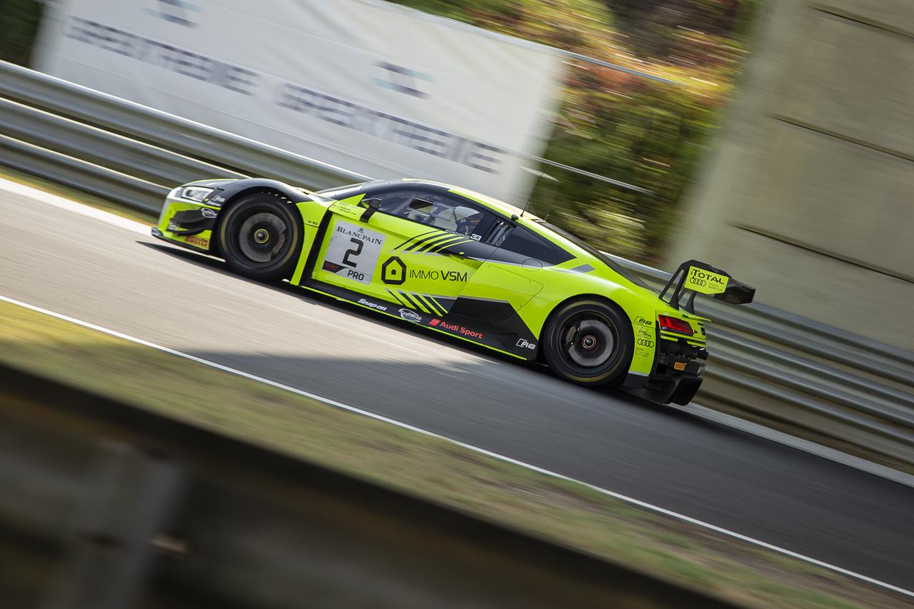 Weerts/Mies, a belga színekben induló belga-német páros végül a hetedik helyig száguldott a mezőny legfeltűnőbb Audijában.
