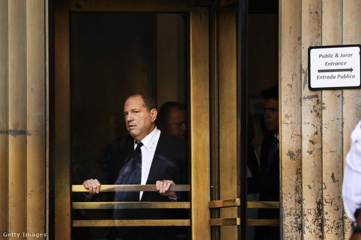 Harvey Weinstein a bíróságon, 2019. augusztus 26-án