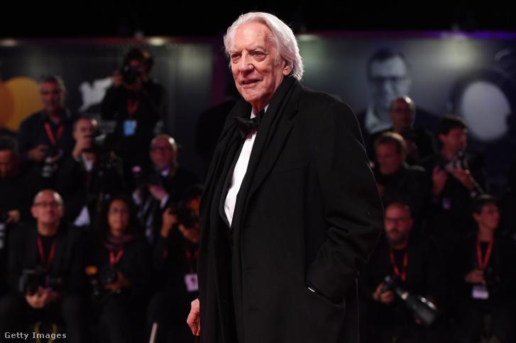 Donald Sutherland a Velencei Filmfesztiválon