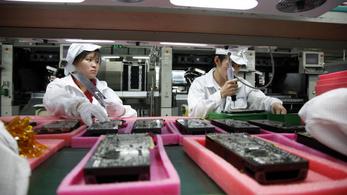 Törvénytelenül sok alkalmi munkással készülnek az új iPhone készülékek