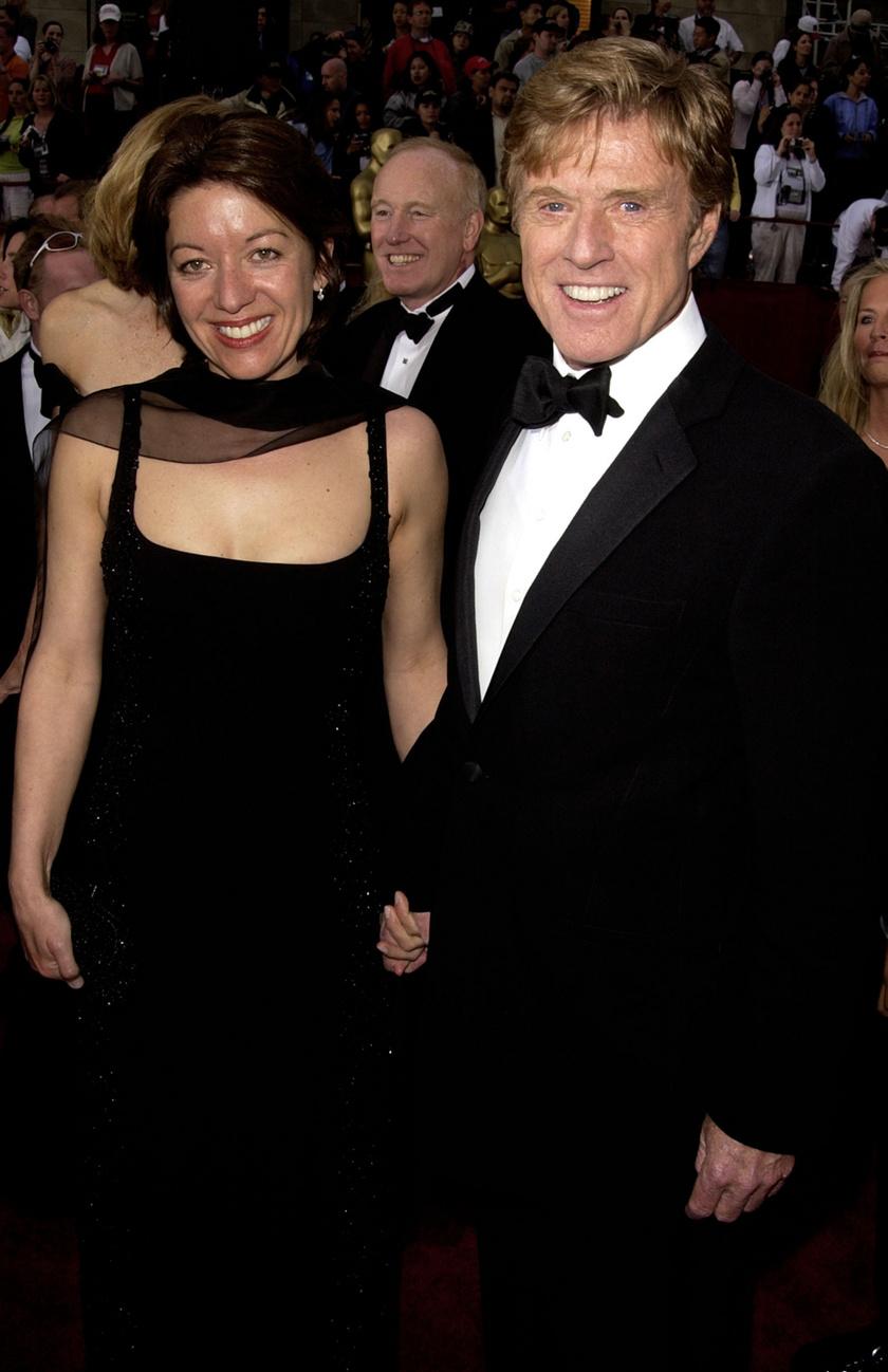Robert Redford és felesége 2002-ben.