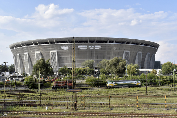 Az épülő Puskás Ferenc Stadion 2019 július 19-én