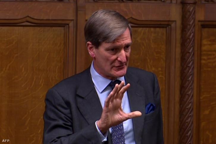 Dominic Grieve beszél a brit alsóházban hétfőn