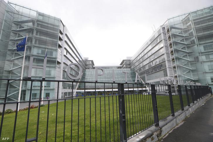A Pompidou kórház épülete Párizsban