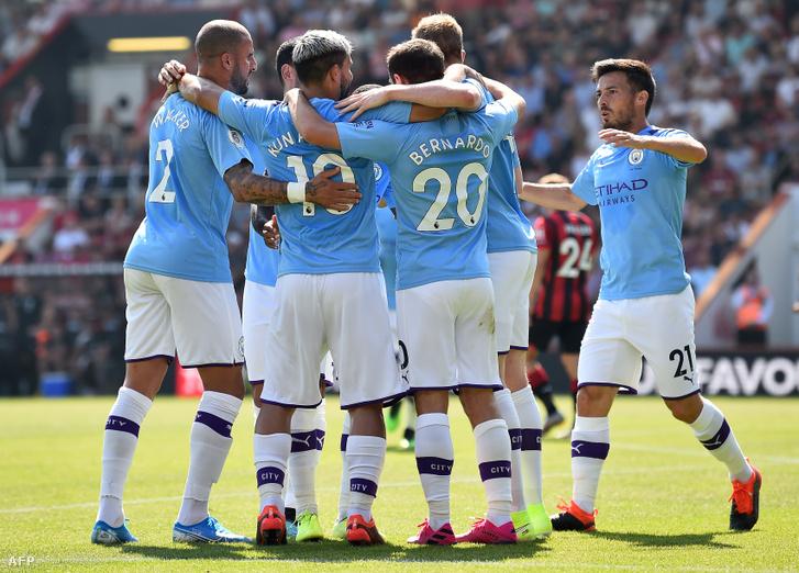 Walker, Agüero, Bernardo Silva, De Bruyne, David Silva - ők öten úgy 250 millió euróban voltak a Citynek