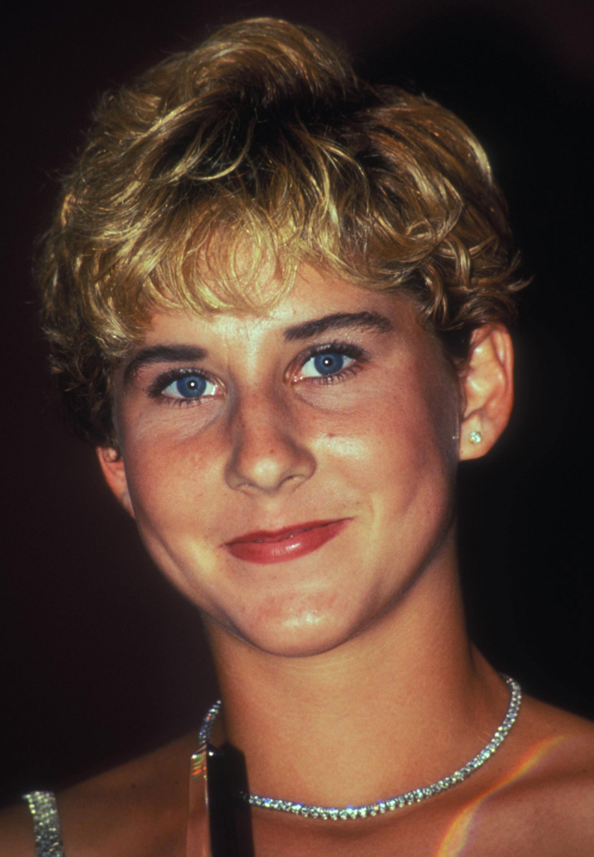 Szeles Mónika 1991 augusztusában, New Yorkban a 15. Women Tennis Awards gálavacsoráján.