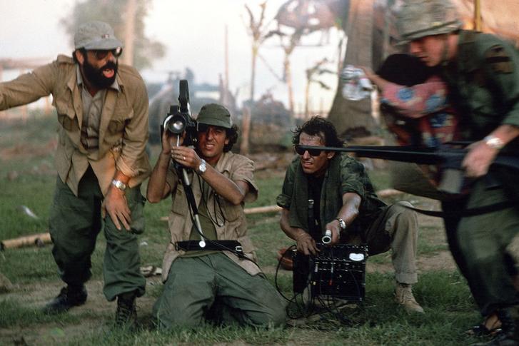 Francis Ford Coppola és Vittorio Storaro az Apokalipszis most forgatásán 1979-ben