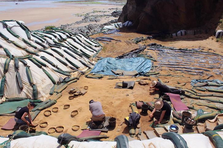 Az ásatás helyszíne, Le Rozel