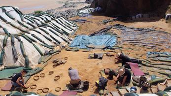 80 ezer éves neandervölgyi lábnyomokat tártak fel Franciaországban