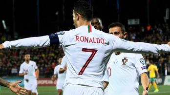 Cristiano Ronaldo négyesével verték a portugálok Litvániát