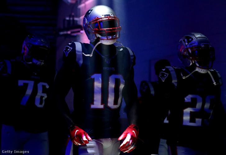 Josh Gordon, a New England Patriots játékosa a New York Giants elleni mérközés előtt idén augusztusban