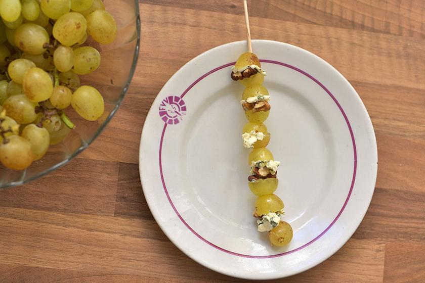 A szőlő sajttal és dióval párosítva lesz a legcsodálatosabb