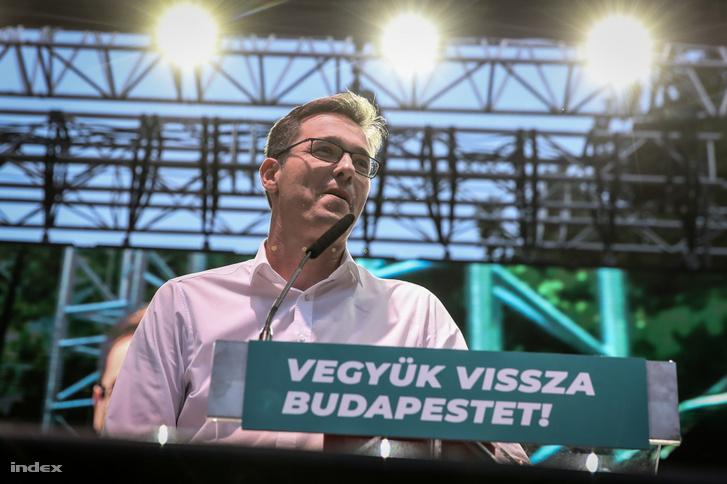 Karácsony Gergely az augusztus 31-i budapesti kampányrendezvényen