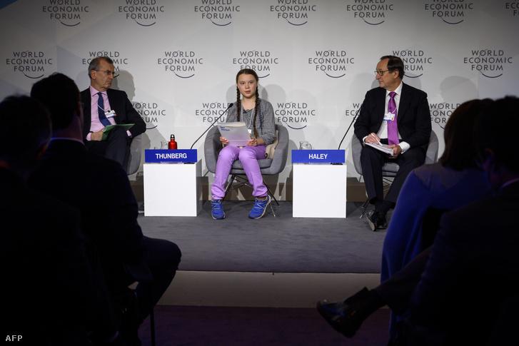 Greta Thunberg Davosban 2019 januárjában