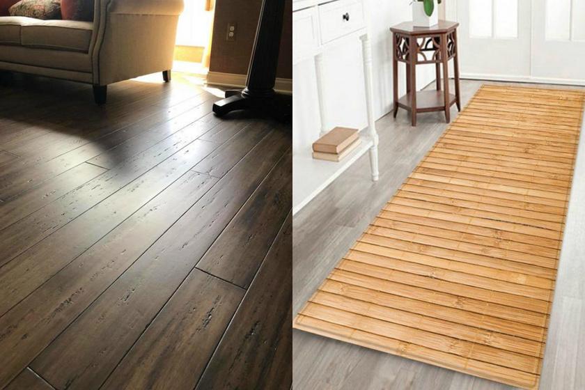 bambusz parketta és szőnyeg