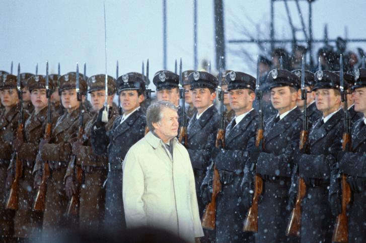 Jimmy Carter Varsóban 1977. december 11-én