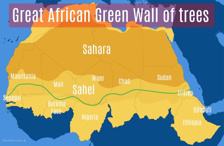 A Nagy Zöld Fal útvonala.