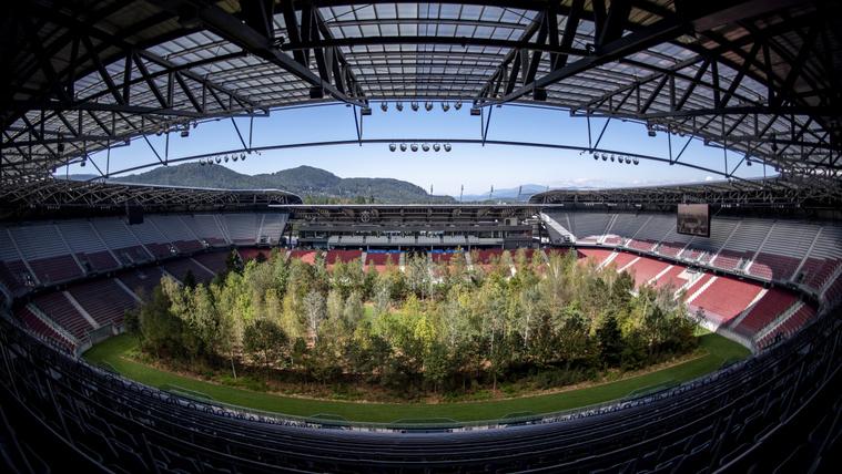 Fillérekből ír történelmet egy osztrák kiscsapat, erre erdőt ültettek a stadionjába