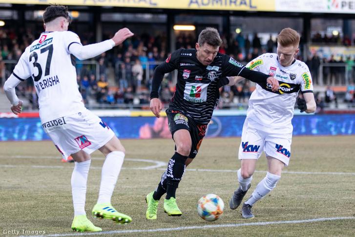 Játékosok a Wolfsberger AC - SCR Altach mérkőzésen 2019. február 23-án.