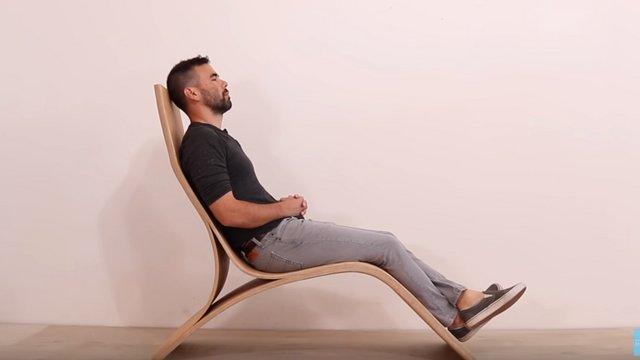 Hajlított rétegelt lemez relax szék