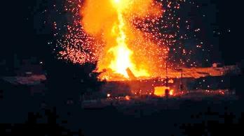 Felrobbant egy katonai lőszerraktár Észak-Cipruson