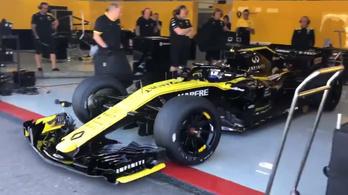 A vártnál is jobban néz ki a nagy felni az F1-kocsin