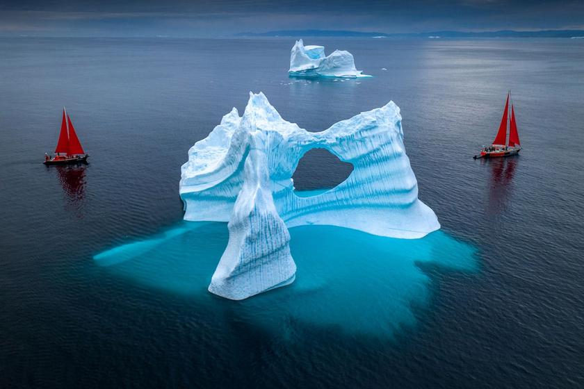 Albert Dros csodálatos fotósorozata Grönland fagyos tájaira repít.