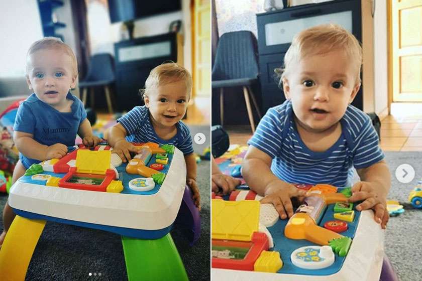 Noé Kiss Ramóna színésznő barátnőjének, Ványa Tímeának a kisfiával, Somával játszott együtt.