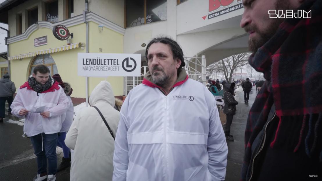 Lendülettel párt aláírásgyűjtése 2018-as videóban