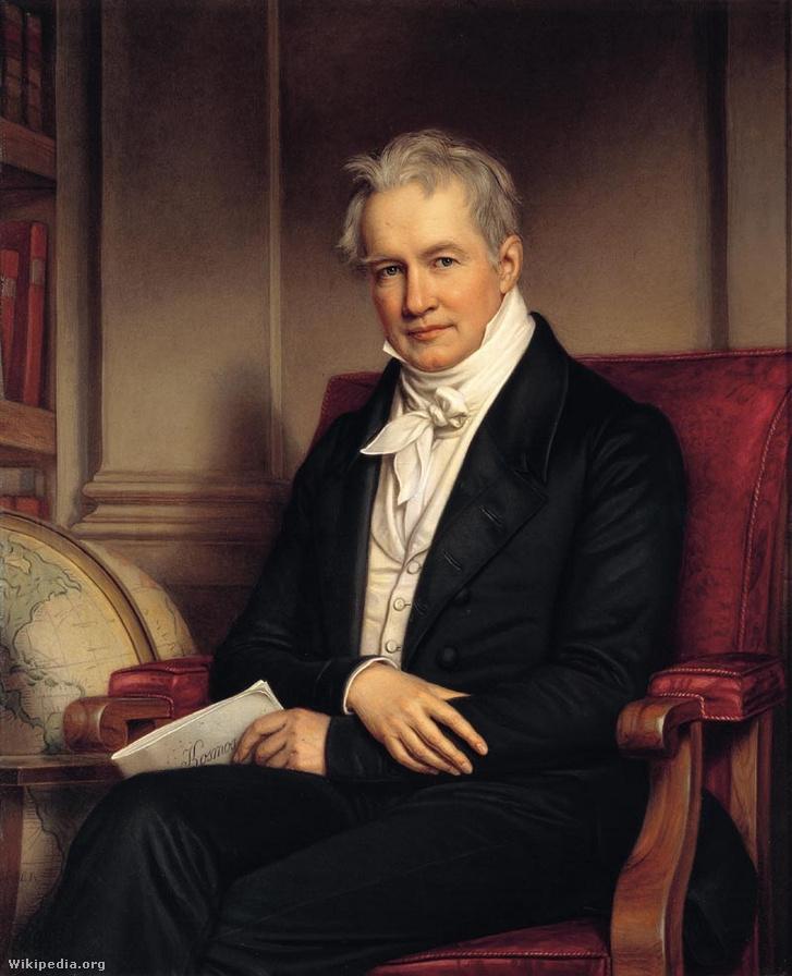 Joseph Stieler festménye Humboldtról, 1843