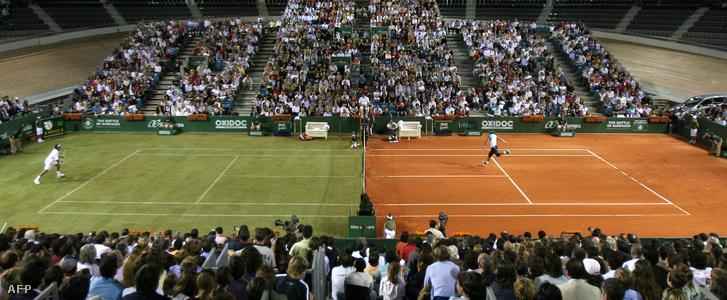 Roger Federer és Rafael Nadal a különleges gálameccsen 2007-ben