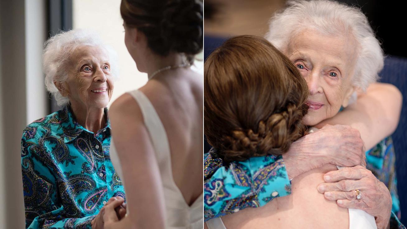 Egyetlen kívánsága volt a 102 éves nagymamának, unokája teljesítette álmát: megható fotókon a menyasszony meglepetése