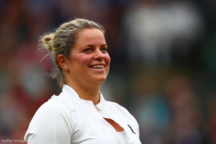 Kim Clijsters 2019 májusában a wimbledoni tenisztorna egyik gálameccsén