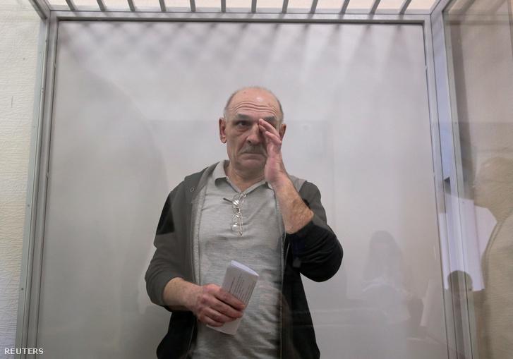 Volodimir Cemah a bírósági meghallgatása előtt Kijevben 2019 szeptember 5-én