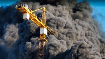 Videón a hatalmas angyalföldi tűz