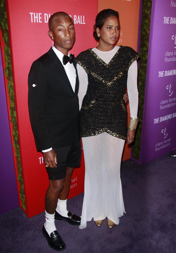 Végül de nem utolsó sorban Pharrell Williams és felesége, Helen Lasichanh is tiszteletét tette az eseményen