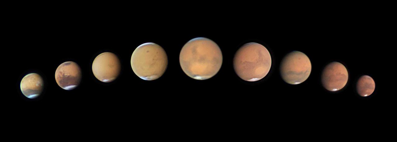 """A """"Bolygók, üstökösök és aszteroidák"""" kategória első helyezettje: """"Opportunity halála"""". A kép technikai adatai: Celestron C14 355 mm Schmidt-Cassegrain távcső (f/26), Astronomik RGB szűrők, Celestron CGX-L mechanika, ZWO ASI290MM kamera, 9 db stackelt felvételből álló montázs."""