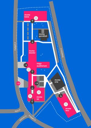 Az új MOME Campus alaprajza