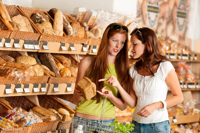stockfresh 197777 grocery-store-two-women-choosing-bread sizeM