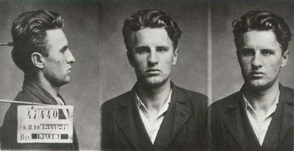 1933. Kádár, a letartóztatott illegális kommunista.